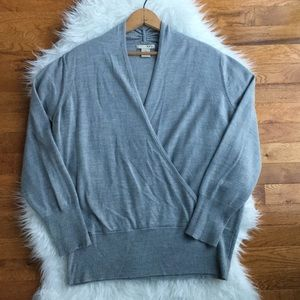 Nasty Gal Evie Gray crossover sweater size 1X